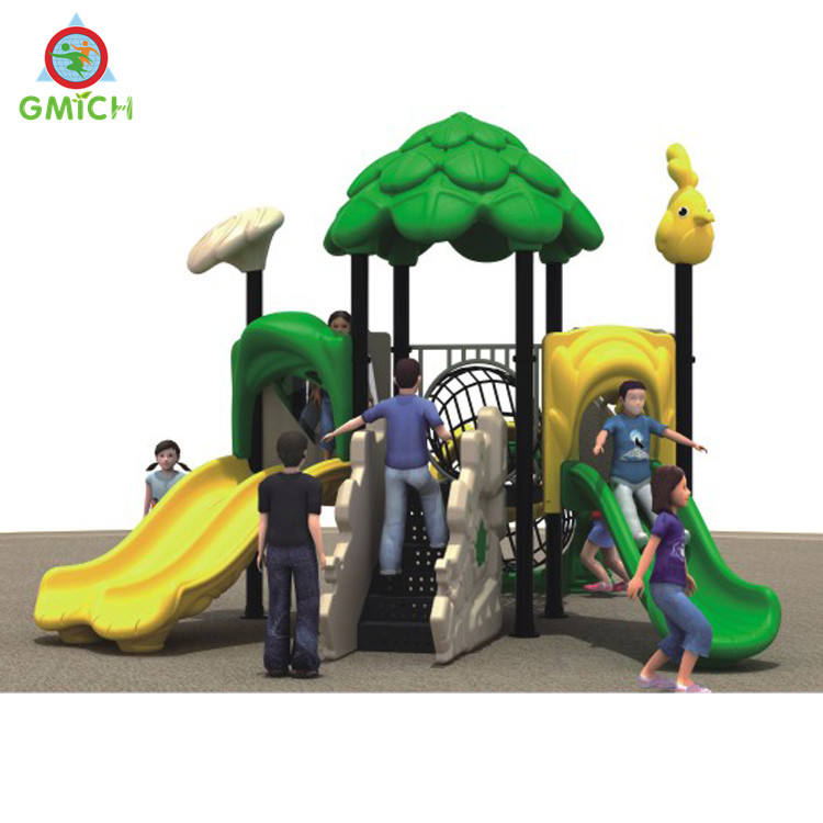 Plastic slide small tree house playground for sale