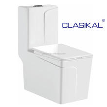 New design siphonic s trap one piece saving water women wc toilet