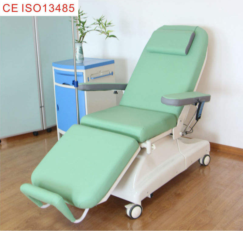 Linak Motors Chemotherapy Chair Hot Sales    Dialysis chair for Hemodialysis Electric treatment chair