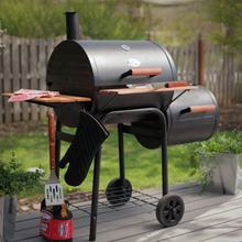 Professional Camping Barrel Outdoor Charcoal BBQ Smoker with Cooking Grill