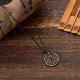 Hot-selling Retro Brass Money Amulet Pendant Wealth Love Lucky Necklace Men's Souvenir Jewelry