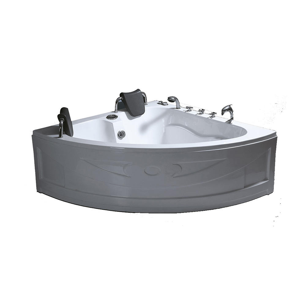 CE high quality cheap corner acrylic bathtub with seat skirt panel