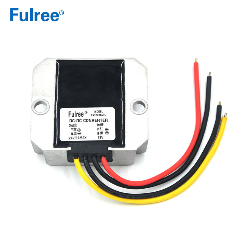 Fulree 12vdc to 24vdc DC to DC Boost Power Converter 12 volt to 24 volt Voltage Regulator, 1A/2A/3A