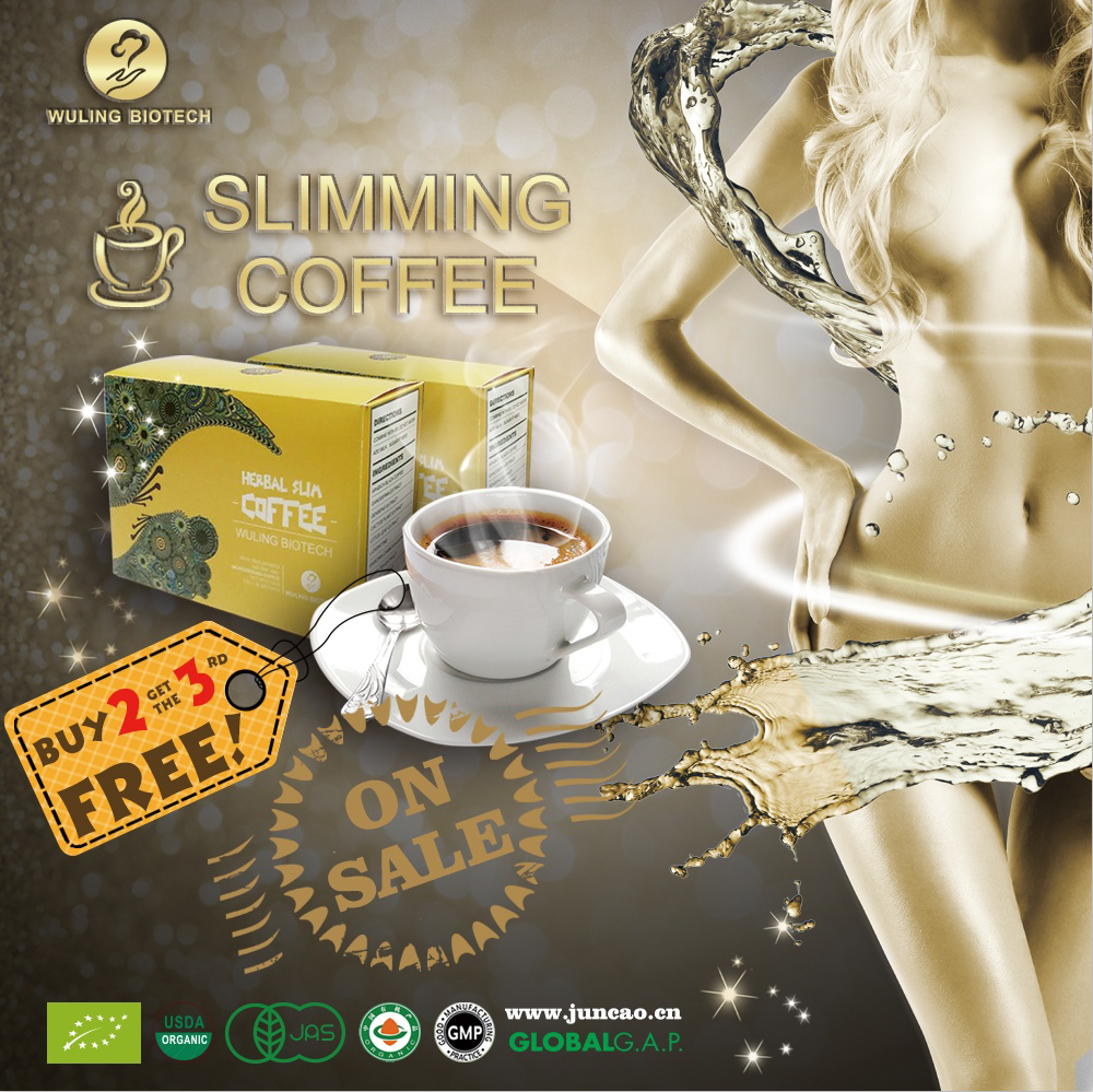 flavored Slimming Instant Coffee 1+3,15 Sachets Diet Drinking lose weight naturally