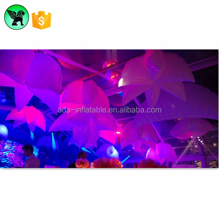 Hot Selling Stage Decoration Inflatable Flower With Lights Inflatable Hanging Star Wedding Events Decoration W05012