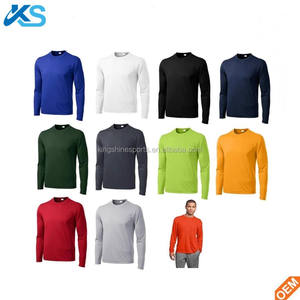 Wholesale dry fit Men's Long Sleeve 100% polyester t-shirt waterproof Breathable T-Shirt
