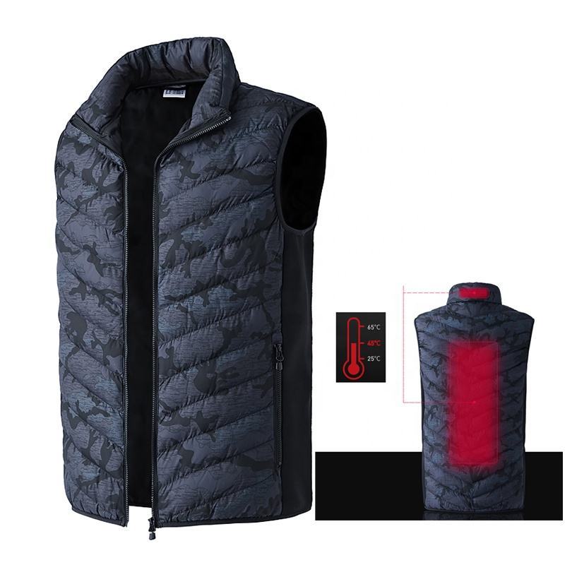 Outdoor Wholesale Mens Winter Camo Electric Usb Heated Vest