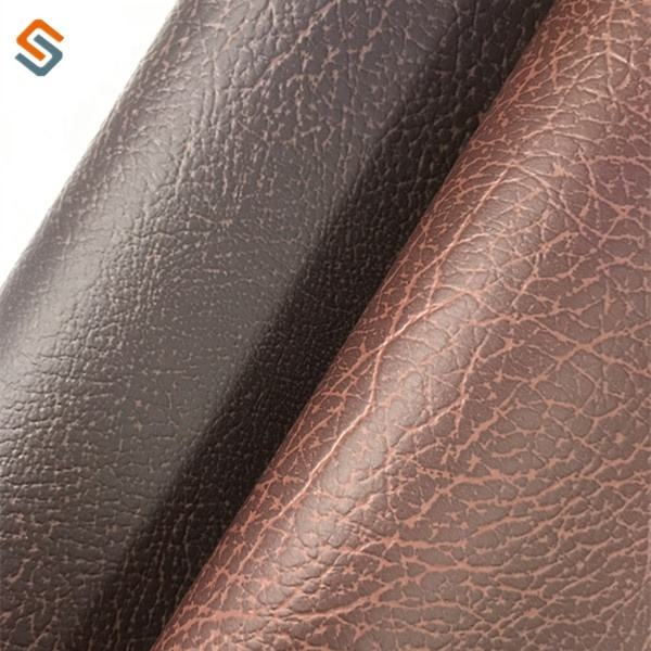 1.0MM PVC embossed leather velveteen-like fabric for sofa,car seat