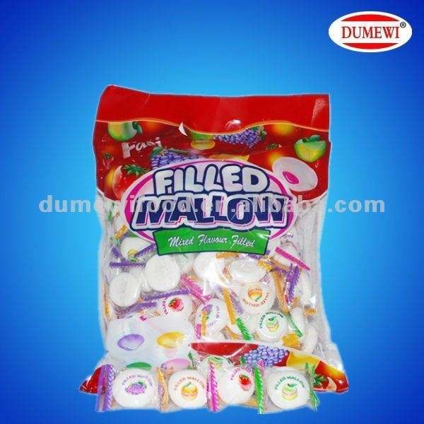 White Marshmallow Candy with Filling