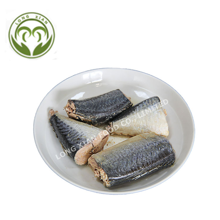 Canned mackerel in vegetable oil/salted water 155g/425g