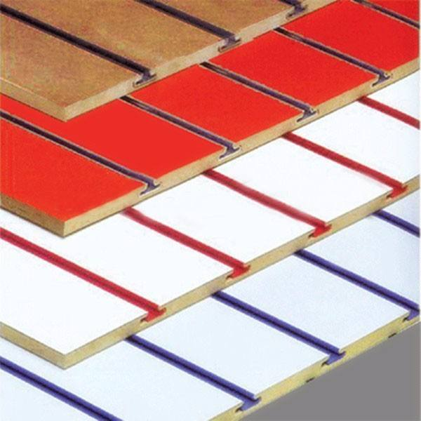 Display Stand Slotted Mdf Board Slatwall Panel / Slatwall Board