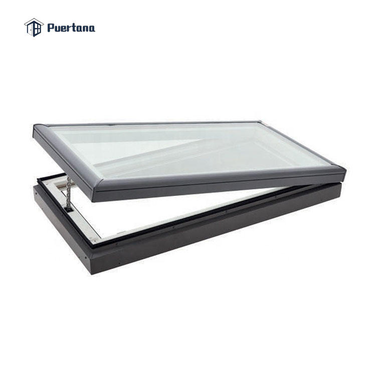Standard Size Skylight Tilt Open Al-alloy Alloy Aluminium Glass Window And Door Picture Design In Guangzhou