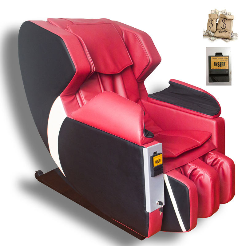 Electric Commercial Use Coin Bill Dollar Operated Airport Vending Massage Chair