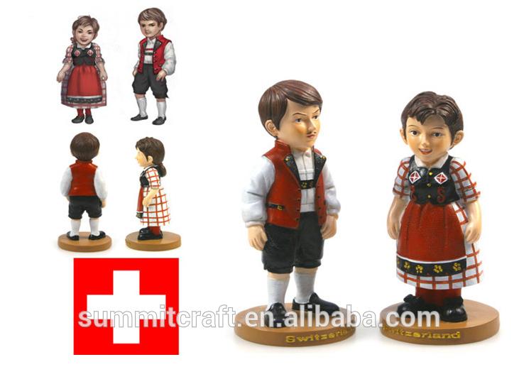 Personnalisé bobble head figurine souvenirs suisse