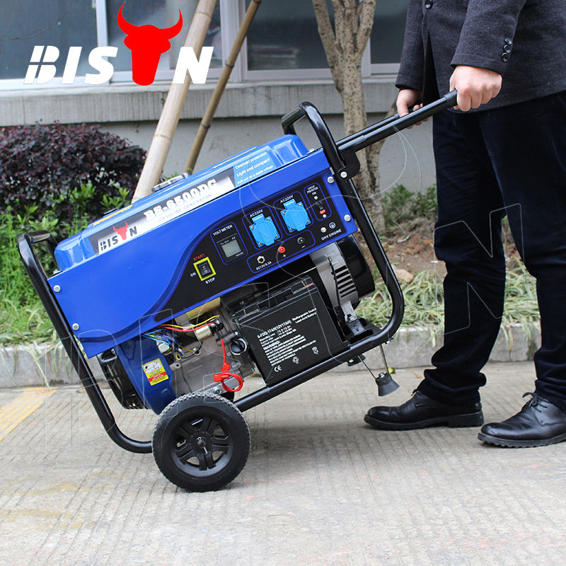 BISON(CHINA) 5KW Electric Start Gasoline Generator