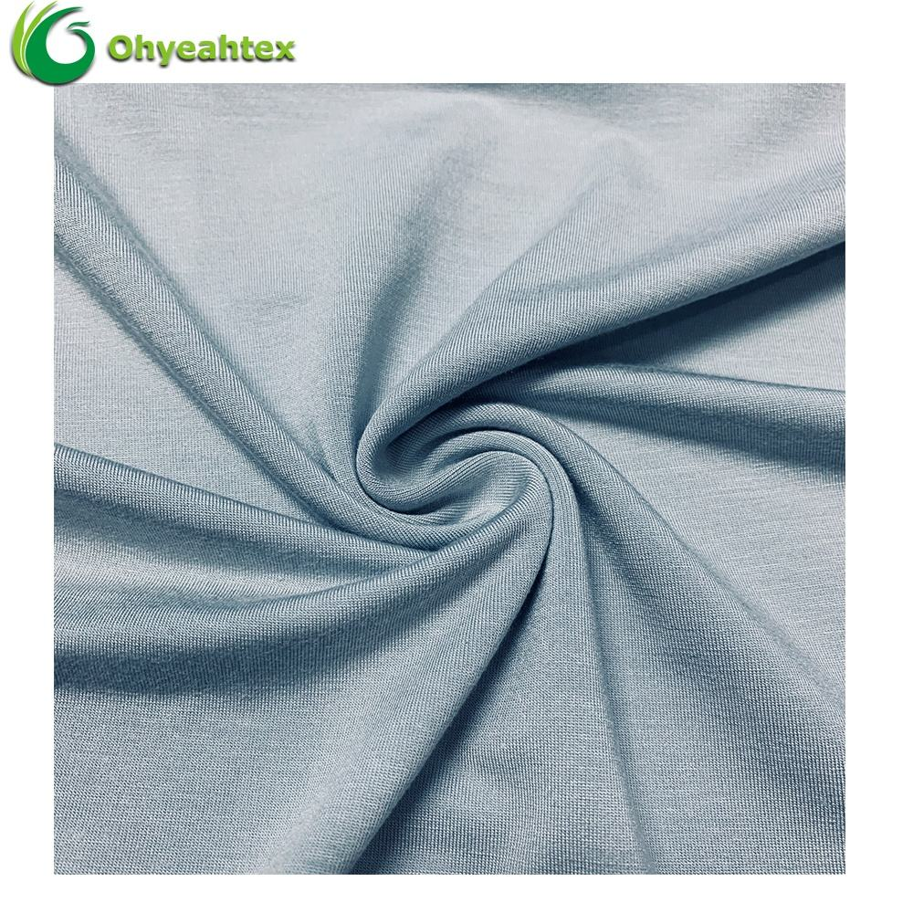 UPF 50 95% Bamboo 5% Spandex Knitted Organic Bamboo Fabric for Clothing