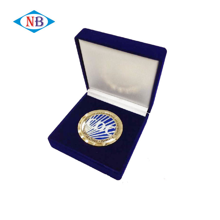 Bulk wholesale cheap custom metal souvenir coins with gift box