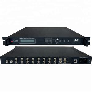 catv digital HFC headend qam modulator with scrambler cas (8*DVB-S/S2+4*ASI in,4*DVB-C RF out)