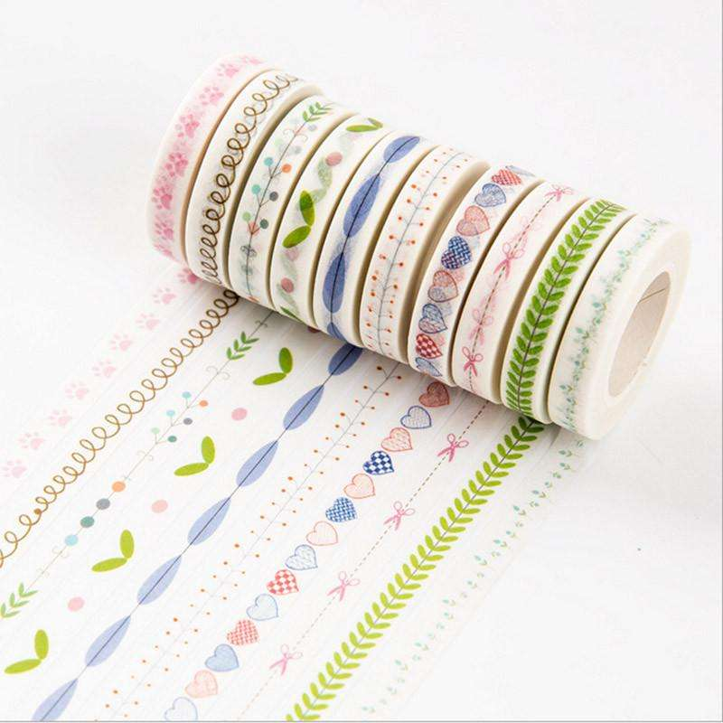 High Quality Adhesive Skinny Washi Tape Diy Decorative Scrapbooking Stickers