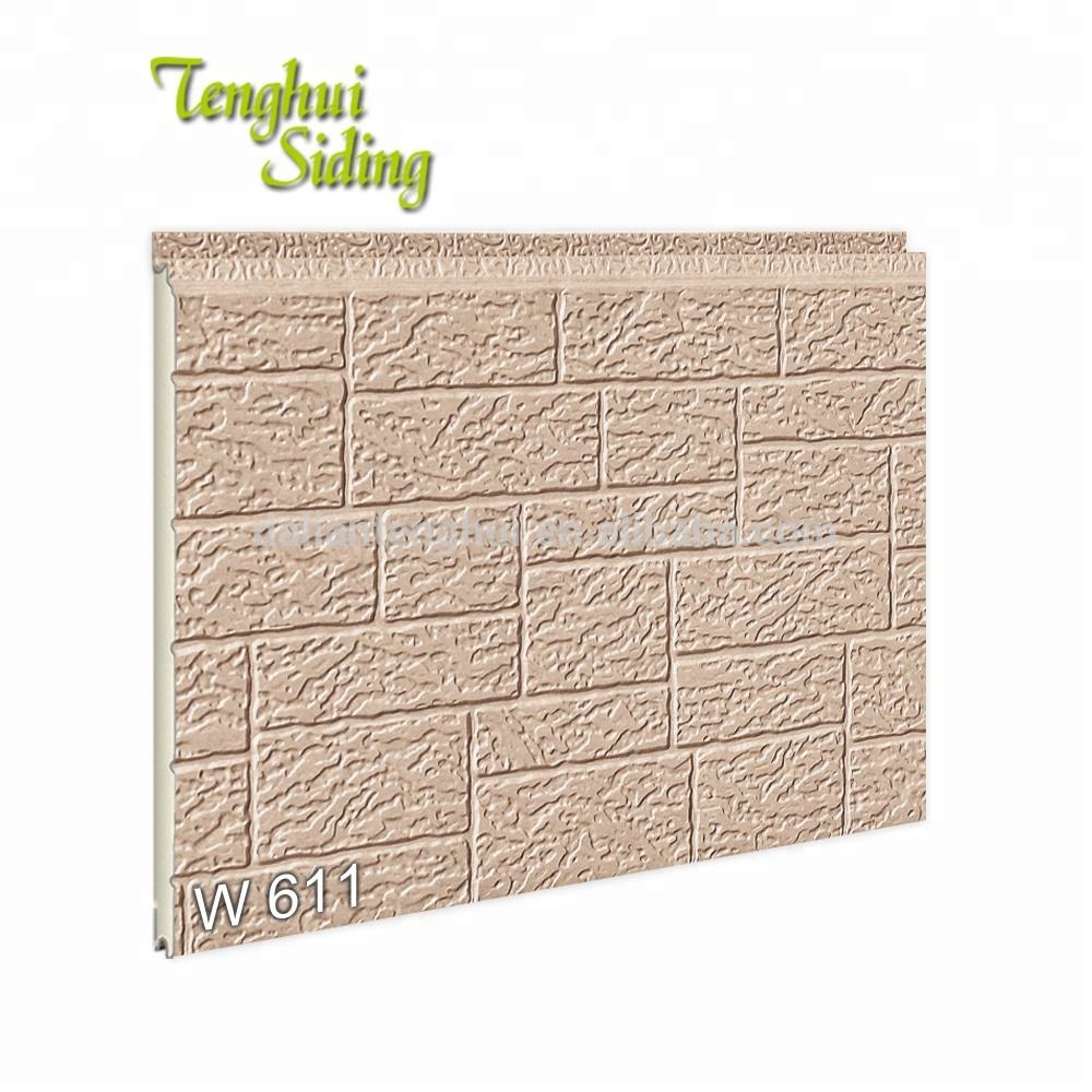 Decorative Pu Core Sandwich Panel Imitation Brick Exterior Building Material