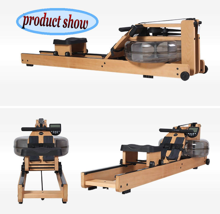 Commercial fitness equipment in gym equipment factory price good quality China cardio adjustable wooden water rower