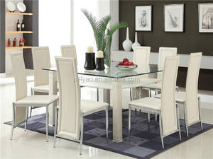 High quality glass dining table 6 chairs set