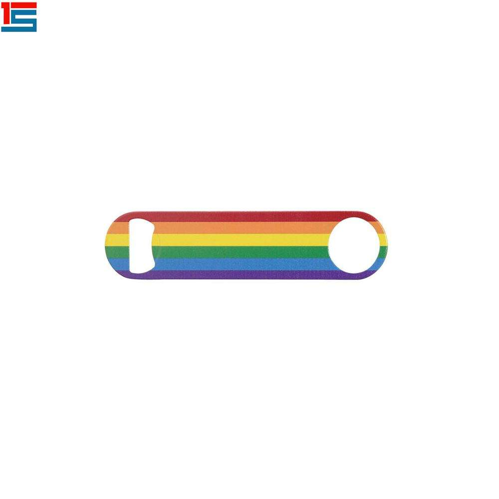 Rainbow color design bottle <span class=keywords><strong>opener</strong></span> Gay pride beer <span class=keywords><strong>opener</strong></span>