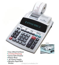 FACTORY SALE!!! 12 digits TWO COLORS print calculator / digits electronic calculator / printing calculator