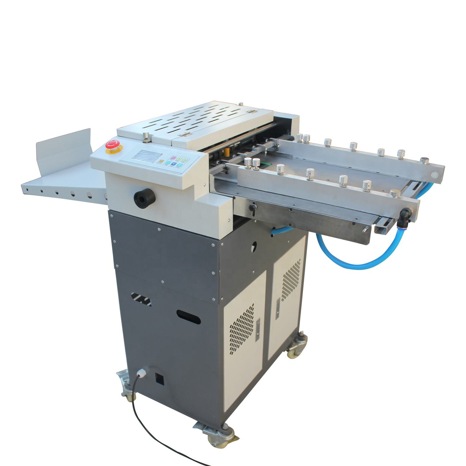 Full Automatic multi-function Paper Creasing / Perforating Machine / Adhesive Sticker Half Cutting machine