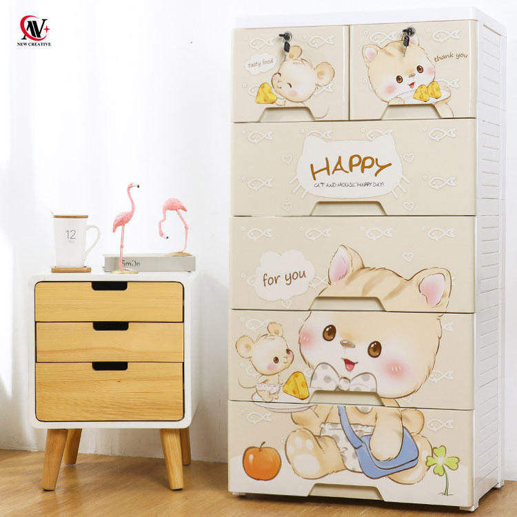cartoon cat and mouse plastic furniture baby chest of drawers