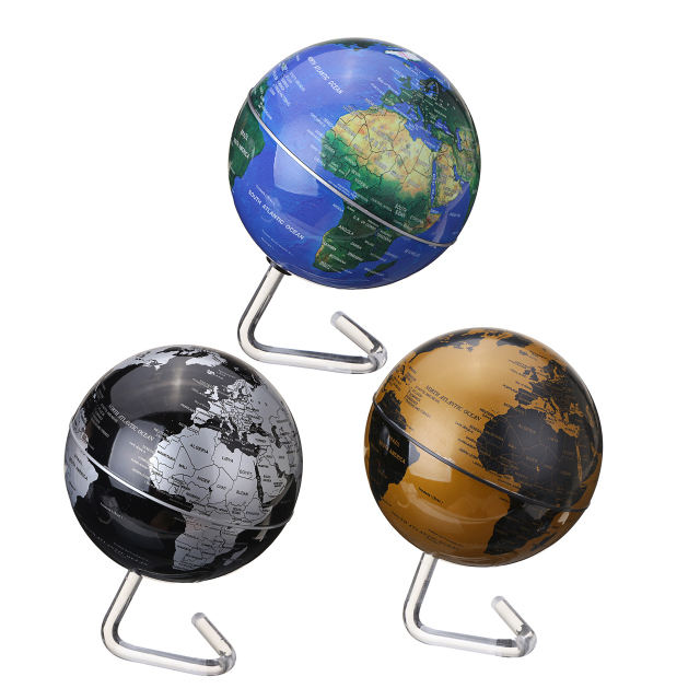 4 '' Dia Rotation Automatic Rotating Globe Battery Powered Desktop World Map