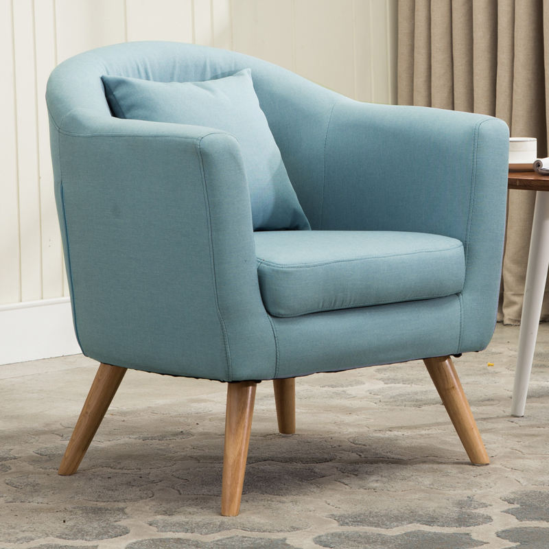 D19 Comfortable Yet Ultra Stylish Button Accent Chair, Teal Living Room Furniture