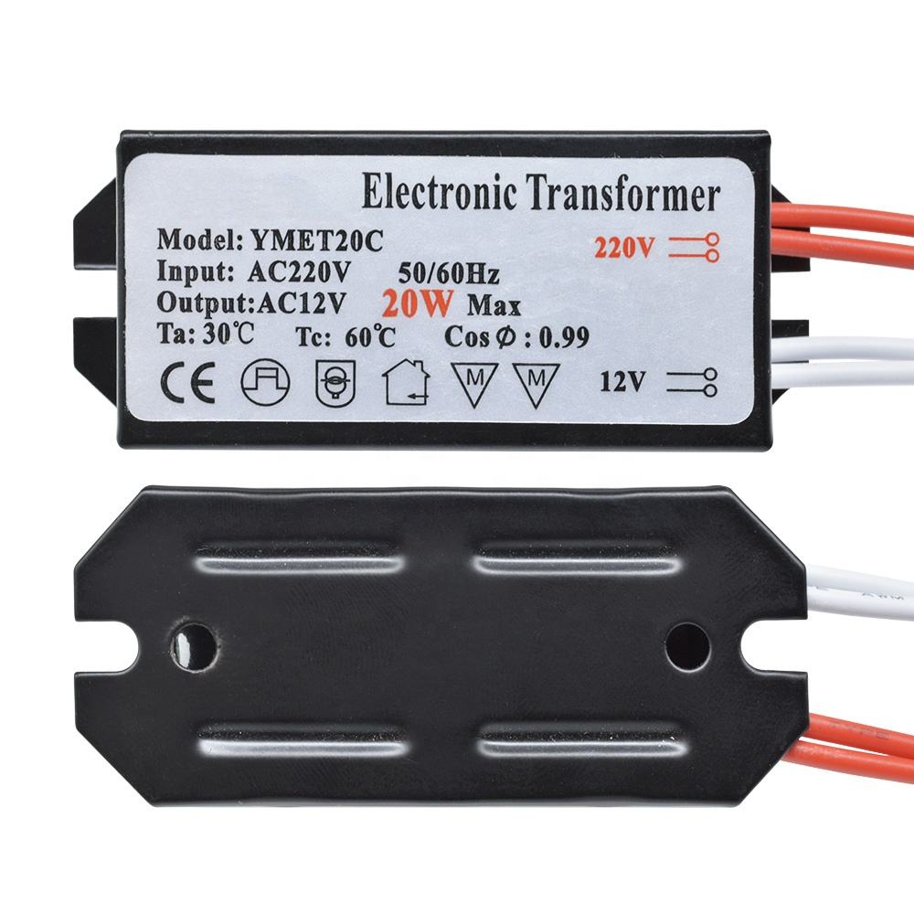 220V to 12V 50W LED Electronic Transformer LED Driver Power Supply for Low-Voltage LED Electronic Converter Voltage Transformer