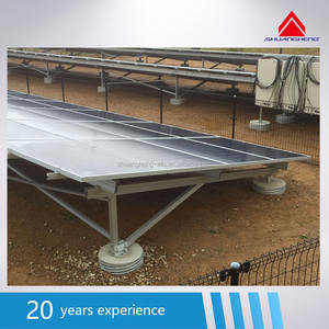 Ground solar mounting system with ground screw