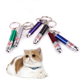 China LED laser pet cat toys red pointer keychain cat toy