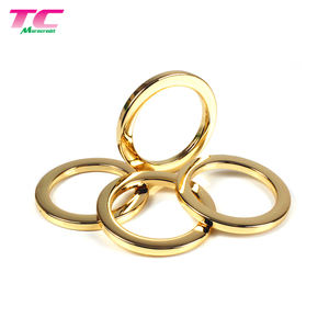 Luxury Shiny Gold Metal O ring Buckles, Round Ring, Custom Logo Metal Round Rings Hardware Accessories For Swimwear, Handbags