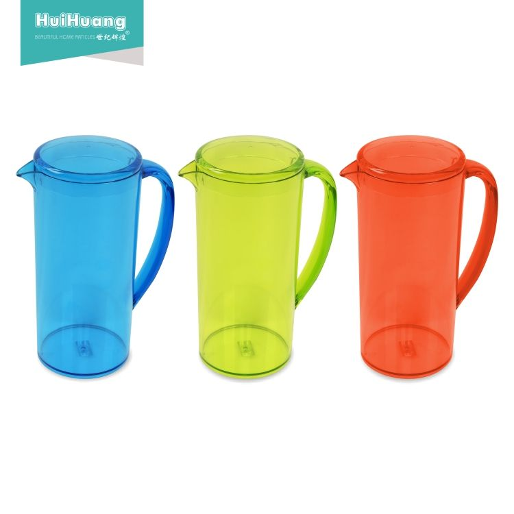 WeHome hot sale 1.5L BPA free kitchenware clear plastic pitcher with lid ice beer pitcher plastic pitcher set with 4 cups