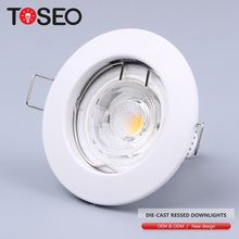 Die casting recessed indoor quality round mr16 gu10 led recessed ceiling down light lamp fixture