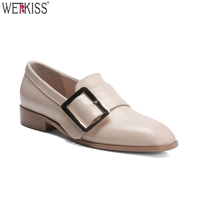 Factory Supply Newest Korean Style Girls Flats Slip On Women Flat Dress Shoes Fashion Leather Ladies Flat Shoes
