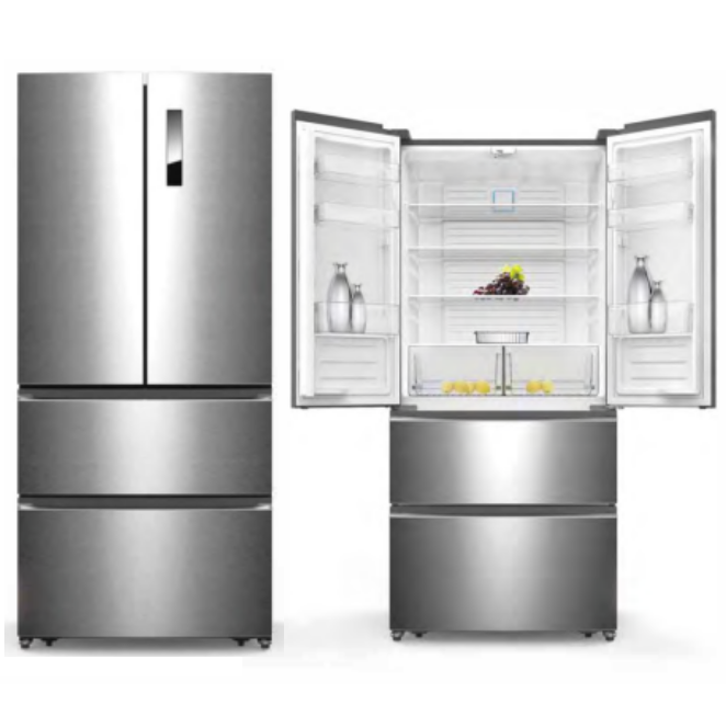 580L Cheap Big Capacity Home and Hotel Use Fridge Frost Free Side By Side French Door Refrigerator