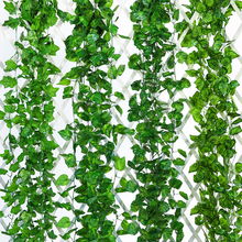 Wholesale Hanging Artificial Leaves Decorative Vines Fake ivy Vines for Outdoor Decoration