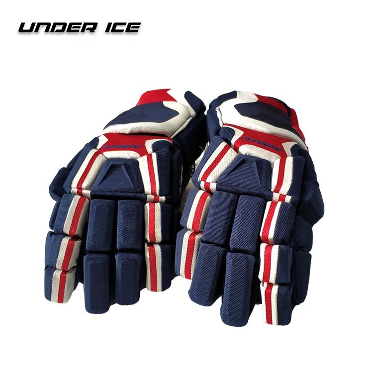 Top Quality Pro Stock Junior Senior Ice Hockey Glove Flexible and Durable
