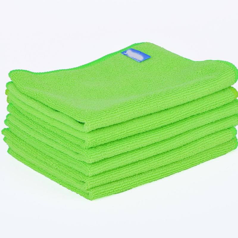 10% Off Colorful Plain Wholesale Microfiber Table Cleaning Micro Fiber Cleaning Cloth