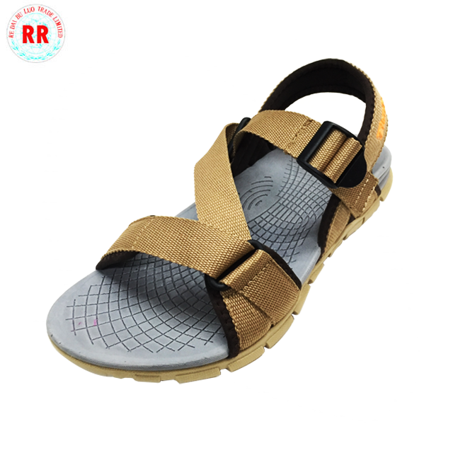 Fashion outdoor chappals shoes sandal black pu high quality tpr thailand sandals