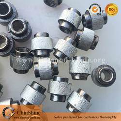 China diamond wire saw beads for granite marble concrete wire rope