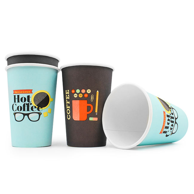 Biodegradable & Compostable Pla Coated Eco 10oz 300ml Paper Cup For Hot Drink
