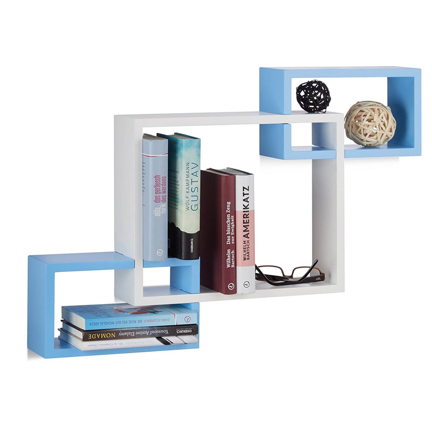Connected Cube Wooden Floating Wand montage <span class=keywords><strong>CD</strong></span> <span class=keywords><strong>DVD</strong></span> Book Storage Display Regale