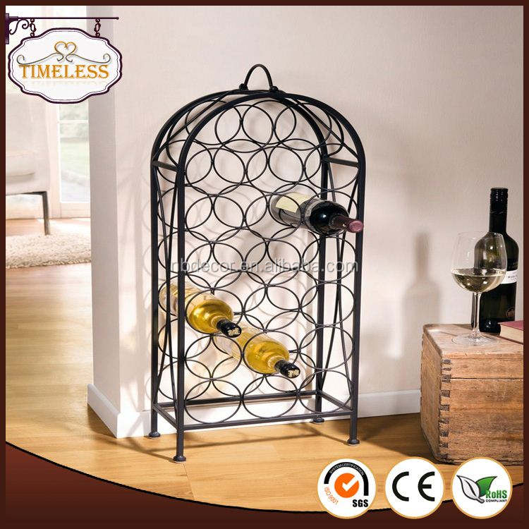2018 โรงงาน custom wrought iron wine rack
