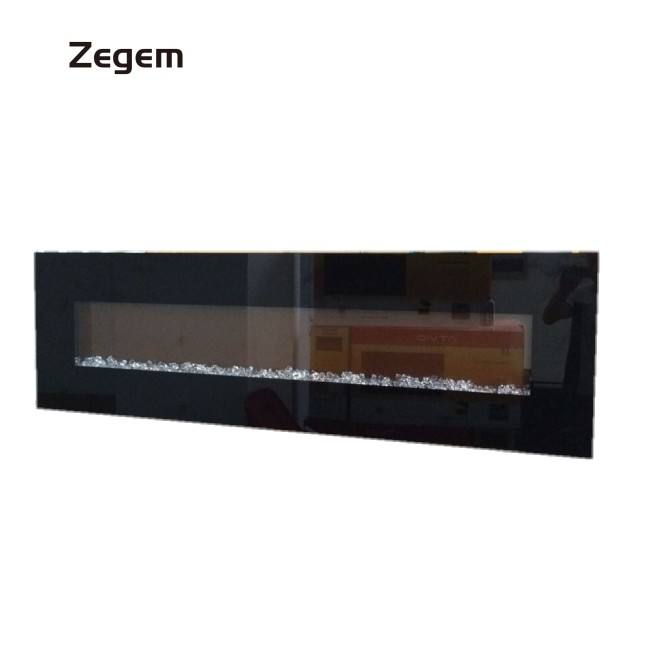"72 "" fireplace electric wall mounted with crystal or wood or pebbles"