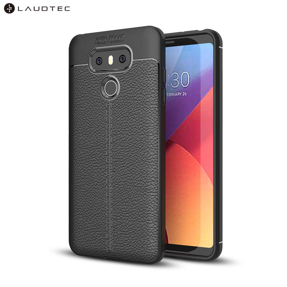 Premium Litchi Leather Pattern TPU Back Cover Case For LG G6